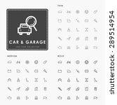 car and garage on thin  medium... | Shutterstock .eps vector #289514954