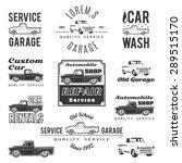 set of car service labels ... | Shutterstock . vector #289515170