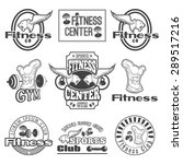 set of monochrome fitness... | Shutterstock . vector #289517216