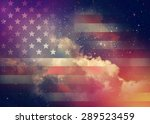 American Flag With Night Sky...