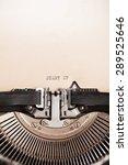 Detail Of Retro Typewriter Wit...