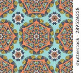 seamless pattern ethnic style.... | Shutterstock .eps vector #289526228