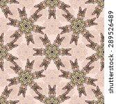 seamless pattern ethnic style....   Shutterstock .eps vector #289526489