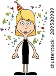 a cartoon party woman smiling. | Shutterstock .eps vector #289530989