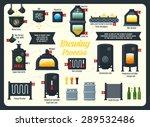 beer brewing process ... | Shutterstock .eps vector #289532486