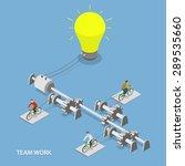 team work flat isometric vector ... | Shutterstock .eps vector #289535660