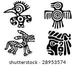 fantastic animals and birds of... | Shutterstock .eps vector #28953574