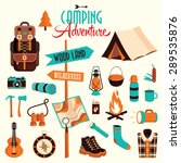 camping adventure flat elements ... | Shutterstock .eps vector #289535876