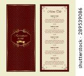 vintage style restaurant menu... | Shutterstock .eps vector #289539086