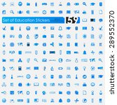education vector sticker icons... | Shutterstock .eps vector #289552370