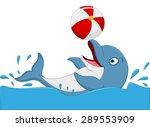 Happy Dolphin Cartoon Playing...