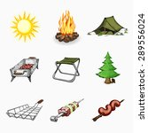 set of tourism and camping... | Shutterstock .eps vector #289556024