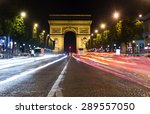 paris  champs elysees at night | Shutterstock . vector #289557050