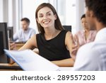 new employee starting work in... | Shutterstock . vector #289557203