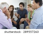 meeting of support group | Shutterstock . vector #289557263