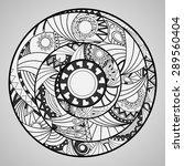 hippie mandala. circle ornament. | Shutterstock .eps vector #289560404