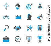 business icon set   finance ... | Shutterstock .eps vector #289561304