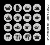 dishes icon set | Shutterstock .eps vector #289561520