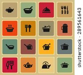 dishes icon set | Shutterstock .eps vector #289561643