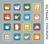 dishes icon set | Shutterstock .eps vector #289561703