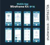 mobile app wireframe dark ui...