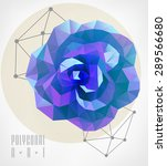 Abstract Polygonal Rose. Low...