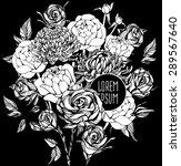 beautiful flower background art.... | Shutterstock .eps vector #289567640