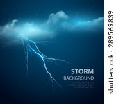 Thunderstorm Background With...