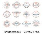 set of hipster vintage labels ... | Shutterstock .eps vector #289574756