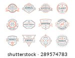 set of hipster vintage labels ...   Shutterstock .eps vector #289574783