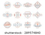set of hipster vintage labels ... | Shutterstock .eps vector #289574840
