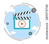 video flat design style icon | Shutterstock .eps vector #289575740