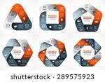 vector geometric infographic.... | Shutterstock .eps vector #289575923