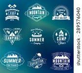 summer holidays design elements.... | Shutterstock .eps vector #289576040