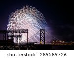 fireworks at san francisco... | Shutterstock . vector #289589726