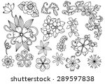 Vector Set Of White And Black...