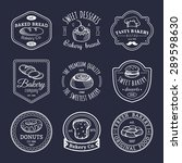 vector set of vintage bakery... | Shutterstock .eps vector #289598630