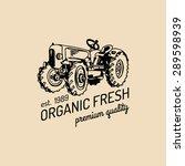 vector retro farm fresh... | Shutterstock .eps vector #289598939