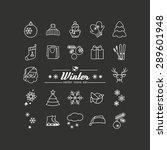 season   winter. set of... | Shutterstock .eps vector #289601948