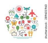 season   summer. set of... | Shutterstock .eps vector #289601960