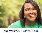 happy african american woman | Shutterstock . vector #289607300