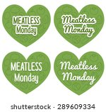 meatless monday heart shaped... | Shutterstock .eps vector #289609334