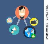 referral marketing concept....   Shutterstock . vector #289614503