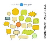 text bubbles colored forms set... | Shutterstock .eps vector #289618166