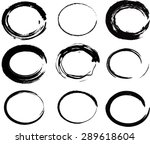 set of vector round grunge... | Shutterstock .eps vector #289618604