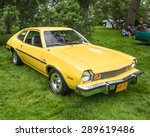 Small photo of GROSSE POINTE SHORES, MI/USA - JUNE 21, 2015: A 1976 Ford Pinto Runabout car at the EyesOn Design car show, held at the Edsel and Eleanor Ford House.