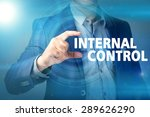 businessman presses button... | Shutterstock . vector #289626290