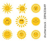 Vector Set Of Sun Icons....
