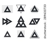 set of geometric shapes... | Shutterstock .eps vector #289633733