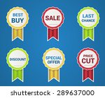 special price and quality tag... | Shutterstock .eps vector #289637000